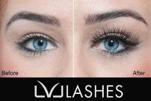 LV Lashes before and after
